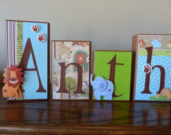 Home Decor - Baby Name Blocks - Name Blocks - Custom Name - Nursery decoration - Wooden Letters Nursery - Block Letters - Baby Shower Gift