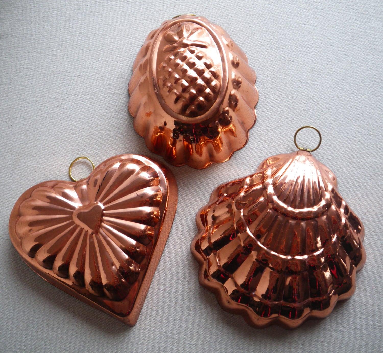 Vintage Copper Cake Pans