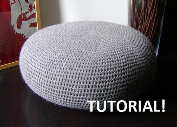 Items Similar To Diy Tutorial Large Crochet Pouf Poof