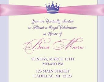 Princess Birthday Invitation • Princess Birthday Party Invitations