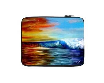 Maui Wave 1 Laptop Sleeve by Artist Corina