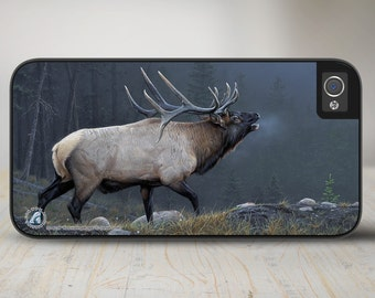 "Elk iPhone 5 Case, Elk iPhone 5s Case, Elk iPhone Case Protective Elk Phone Case ""Resonating Bugle"" 50-8239"