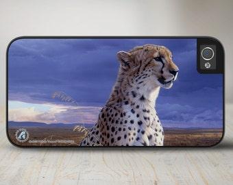 """Cheetah iPhone 5 Case, Cheetah iPhone 5s Case, Cheetah iPhone Case Protective Cheetah Phone Case """"African Tempest"""" 50-8237"""
