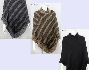Chevron Patterned Poncho