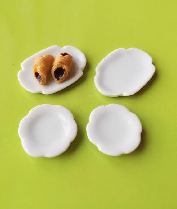Miniature Plate,Miniature Tray,Miniature Ceramic Plate,Miniature Ceramic Tray Miniature food,Doll's House plate,Dolls House Tray,DIY,Dolls