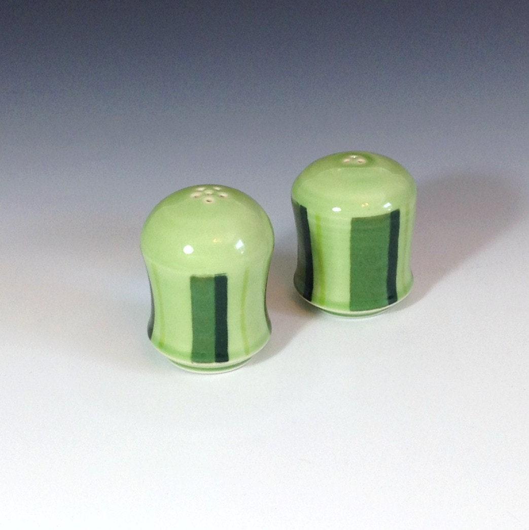 Green Salt And Pepper Shakers Porcelain Salt And Pepper Set