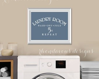 Laundry Room Art Print - Laundry Room Sign - Laundry Room Decorations - Laundry Room Decor - Laundry Room Prints - Wash Dry Fold (S-400)