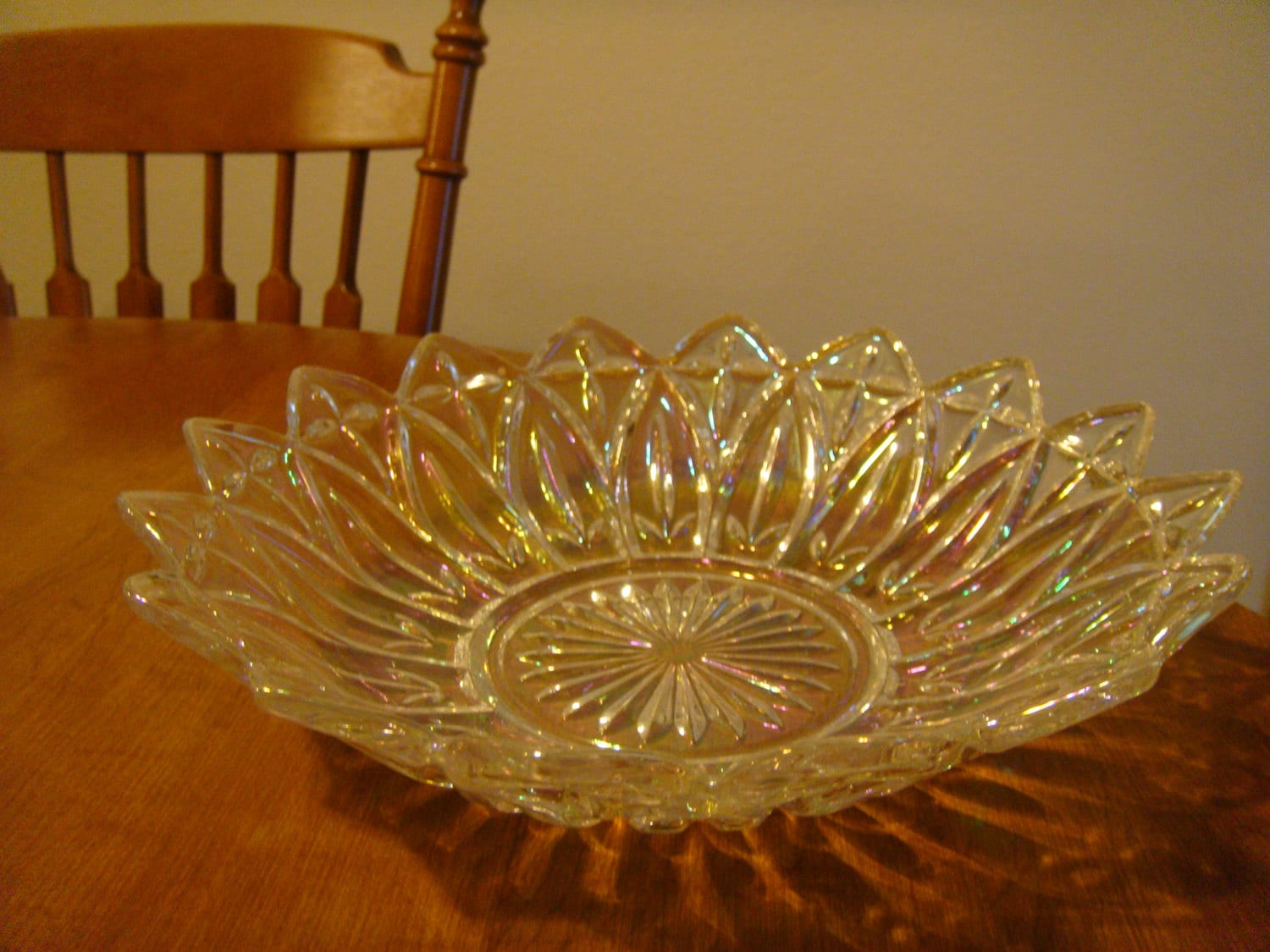 Glass bowl depression glass bowl indiana glass dish for Most valuable depression glass patterns