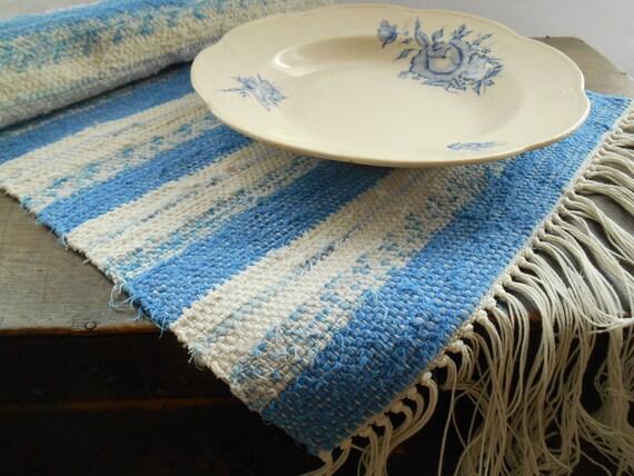 schwedische vintage rag rug rag tabelle l ufer woven. Black Bedroom Furniture Sets. Home Design Ideas