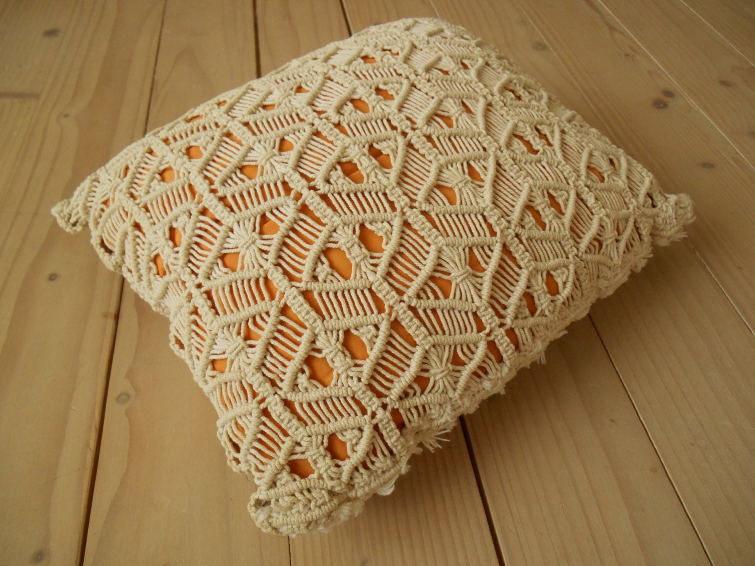 macrame blanket vintage macrame pillow beige macrame pillow macrame throw 5499