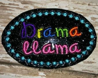 Set of 4 Drama Llama Feltie Felt Embellishment Bow! Birthday Party Glitter! Planner Clip Felties Llamas Sassy Wordie Words Save the Drama