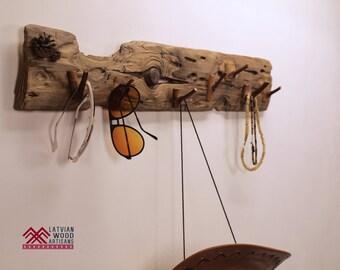 Porte serviette bois flott rack range serviettes en m tal for Porte manteau mural en bois flotte