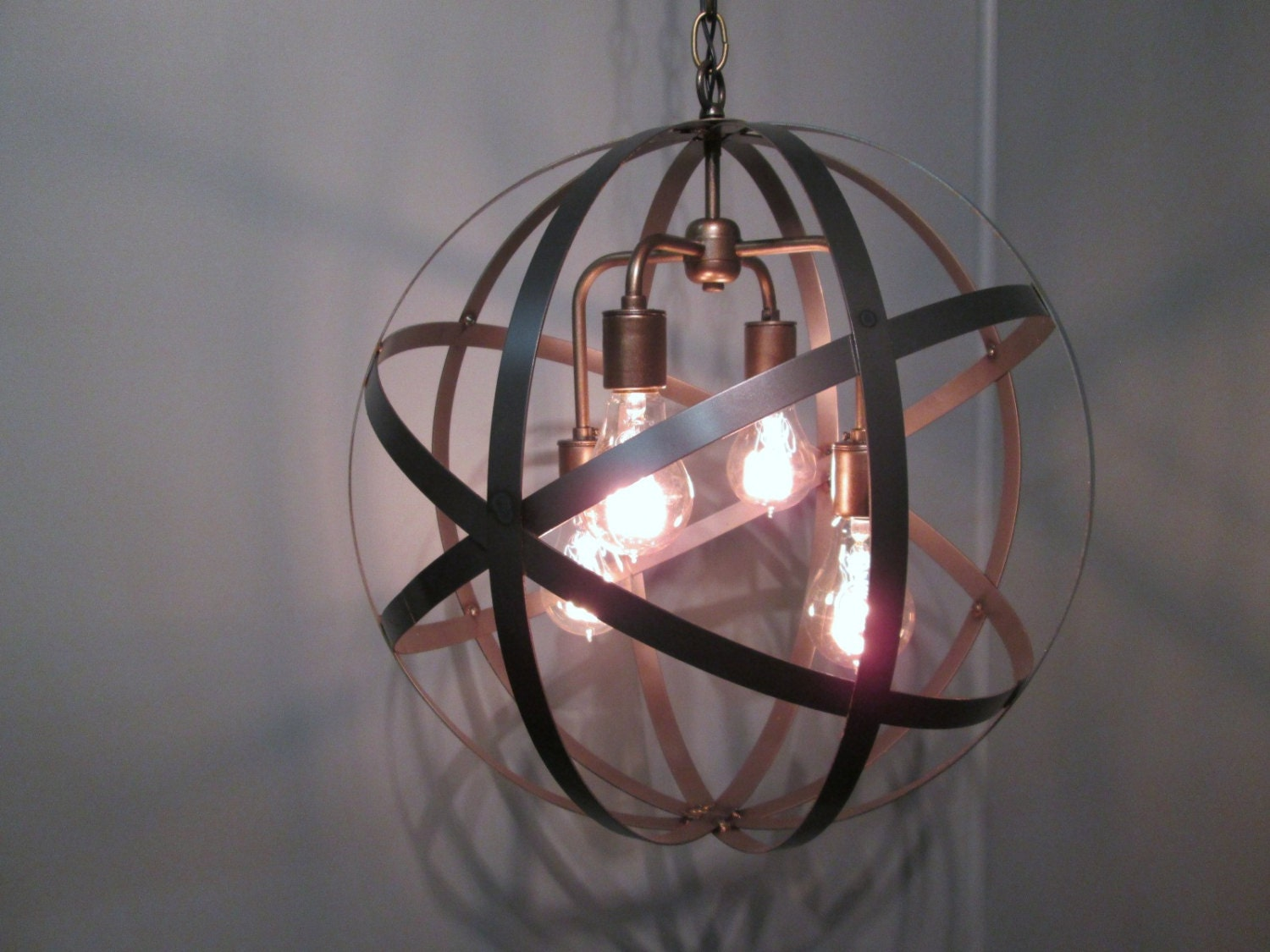 industrial orb ceiling light chandelier 18 diameter