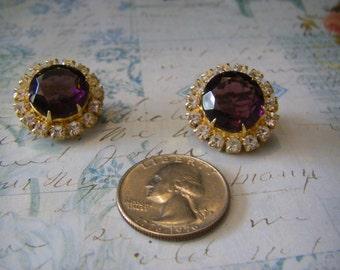 Clipon vintage earrings