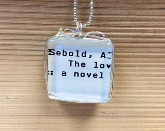Reversible Library Card Necklace Alice Sebold The Lovely Bones