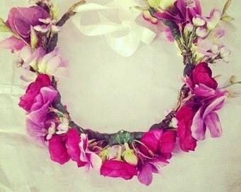 Silk flower crown