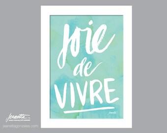 """11""""x14"""" Blue Joie de Vivre Poster"""