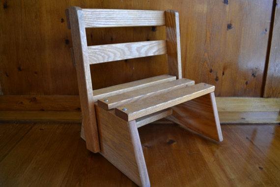 Vintage Childrens Folding Step Stool & Chair