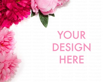 Styled Photography Flower / Pink / MockUp / Stock Photo / Image Background / Feminine / Girly / Floral / Summer