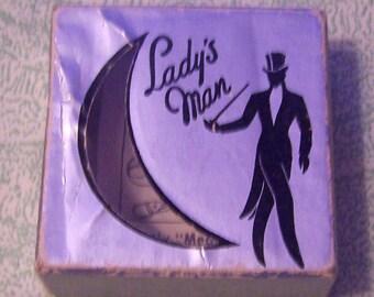 Vintage Lady's Man advertising box