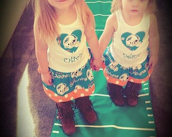 Miami Dolphins, Dress. All NFL and College Teams Available.