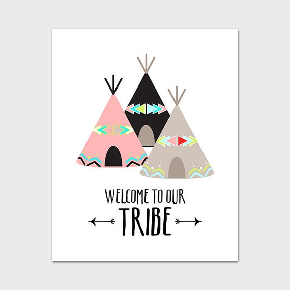 Tribal Nursery Wall Decor : Tribal nursery printable instant by mossandtwigprints