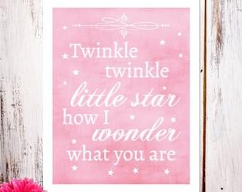 Twinkle Twinkle in Pink Art Print