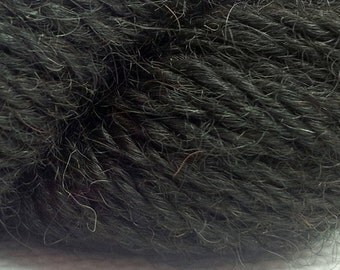 Scottish Alpaca DK Yarn in Natural Black colour - not dyed.