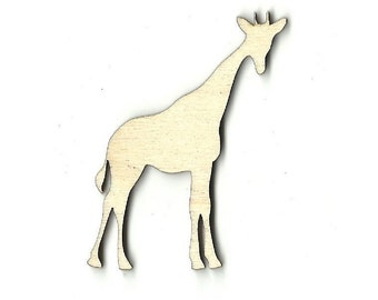 Giraffe  Laser Cut Unfinished Wood Shapes  Variety of Sizes Craft Supply DIY ANML4