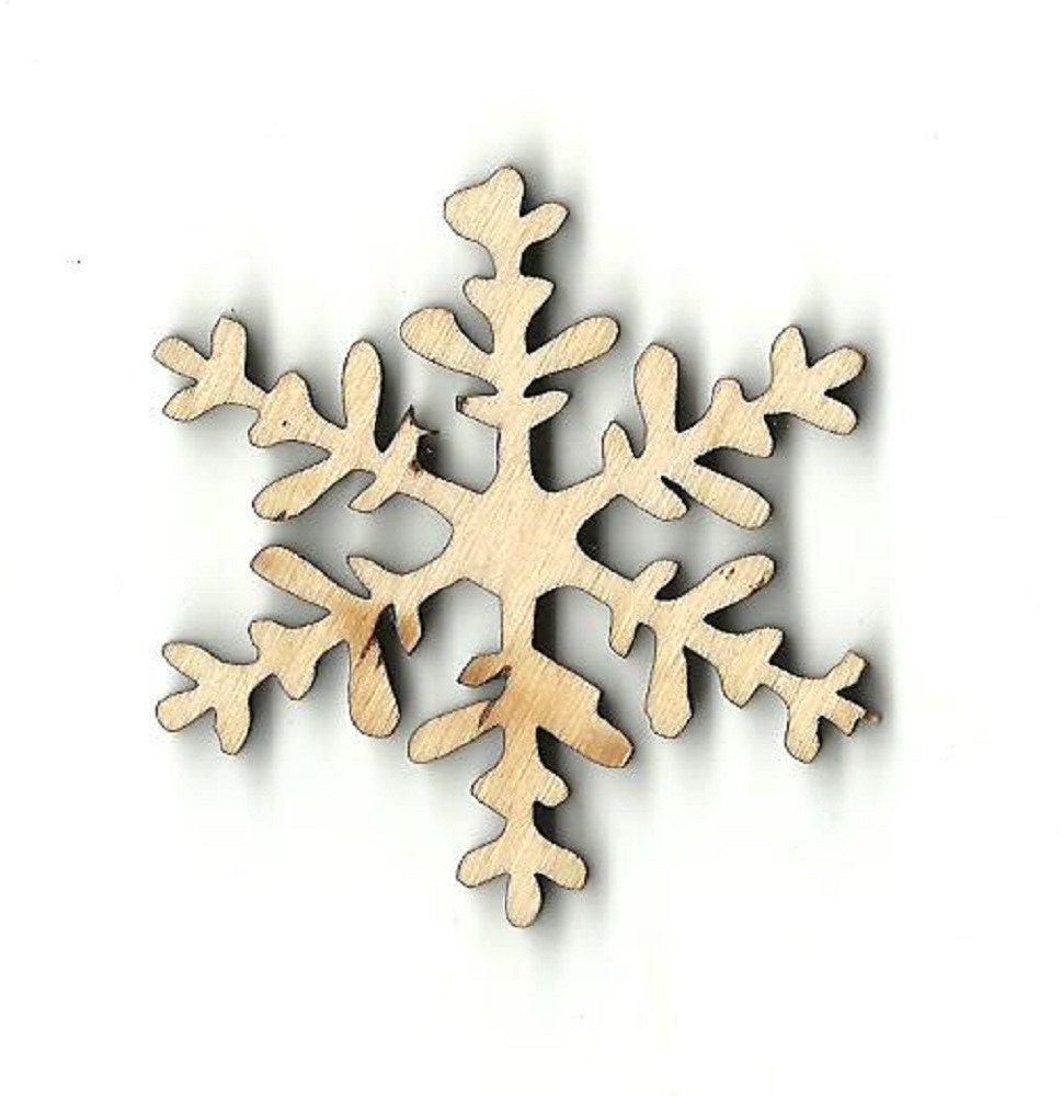 Snowflake laser cut out unfinished wood shape craft supply for Craft supplies wooden shapes