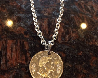 Tanzania 50 senti coin necklace