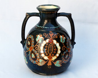 Antique slip ware vase