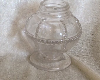 Antique Glass Candy Container