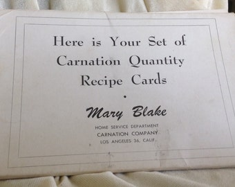 Carnation Co Recipe Cards Set