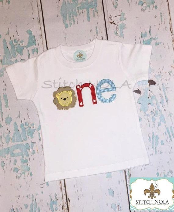 Lion Face One Birthday Shirt or Bodysuit