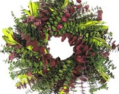 "24"" Let's Tango Preserved Eucalyptus Wreath - Made to Order"