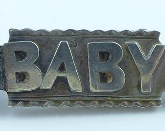 Victorian Silver BABY brooch - Fully hallmarked 1889