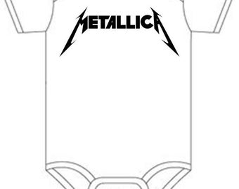 Metallica Shirt onesie you pick size newborn / 0-3 / 3-9 / 12 / 18 month 2t 3t 4t