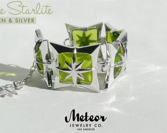 The Starlite, Green Vintage Inspired Bracelet