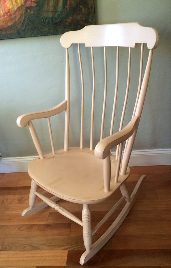 Shabby Chic Wooden Rocking Chair - SOLD!!!