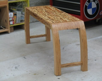 "Modern Bench ""Everyday"" – Wood Bench - Plywood - Engineered Beam"