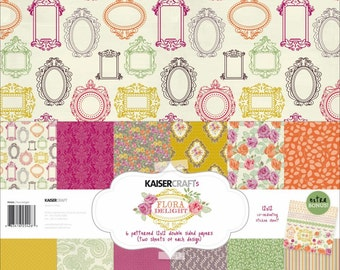 Kaisercraft Floral Delight 12x12 Paper pack and sticker sheet     (half price was 14.99)