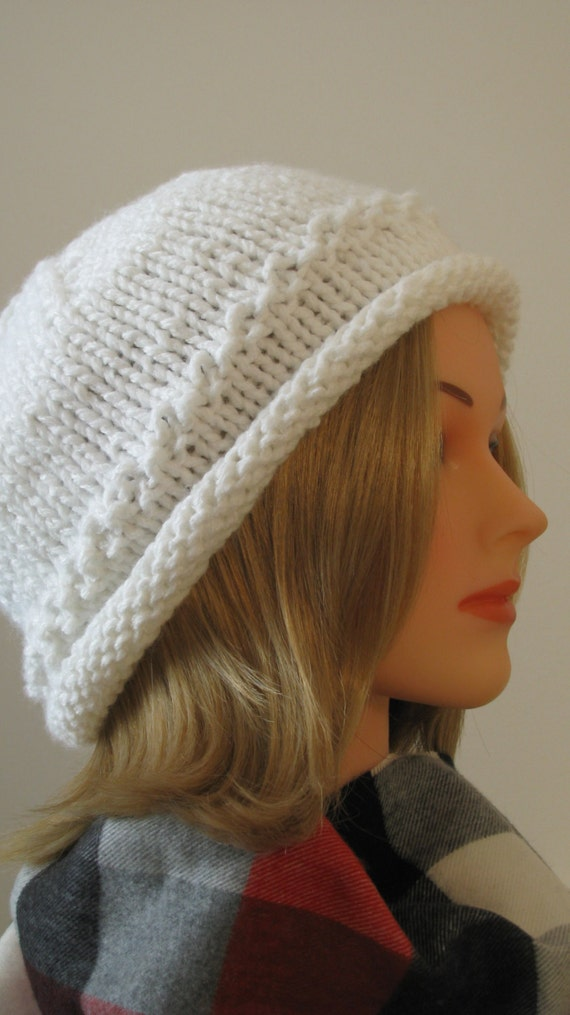 Knitting Patterns Ladies Winter Hats : Knitting Pattern Womens Hat Darcy Winter Hat