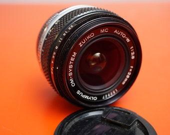 Olympus OM Mount 28mm f2.8 Auto-W Lens