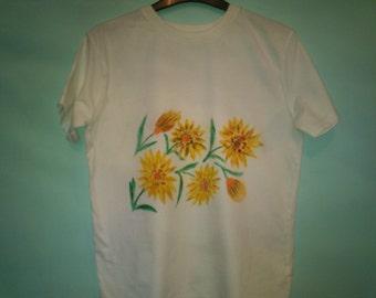 Summer Sunflowers Teeshirt ages 13-14 years