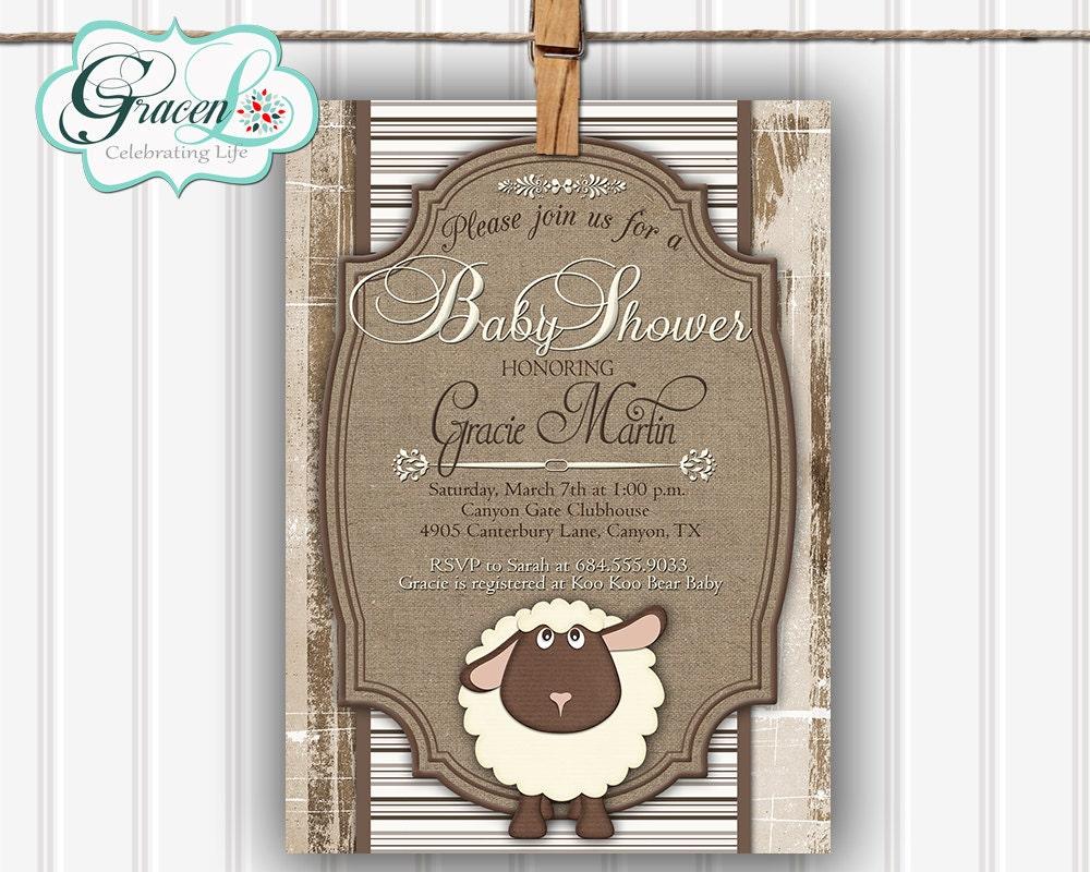 baby shower invitation little lamb baby shower invitation