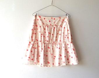 Polka dot skirt. Summer skirt. Adorable! Women's skirt. Teen skirt. Light cotton lined skirt.