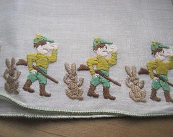 vintage rabbit hunting handkerchief elmer fuddish