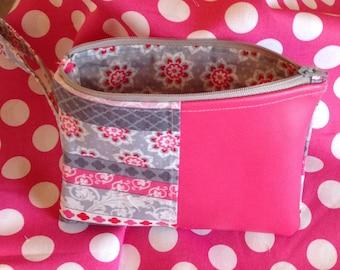 Pretty Poppin Pink Wristlet