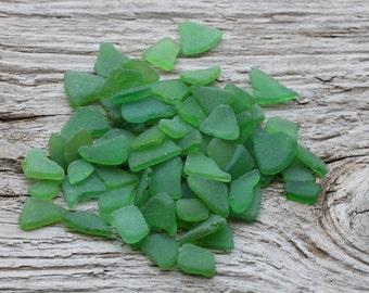 Tiny Green Sea Glass Bulk Sea Glass For Sale 70pcs
